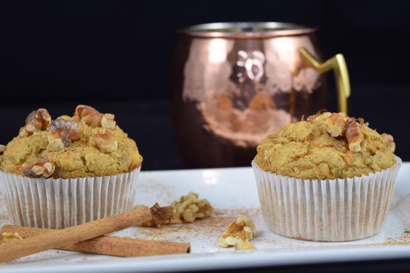 Fall Harvest Oat Muffins