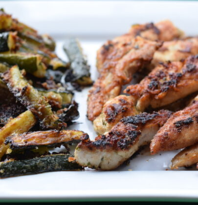 Organic Chicken Tenders with Parmesan Zucchini Fries