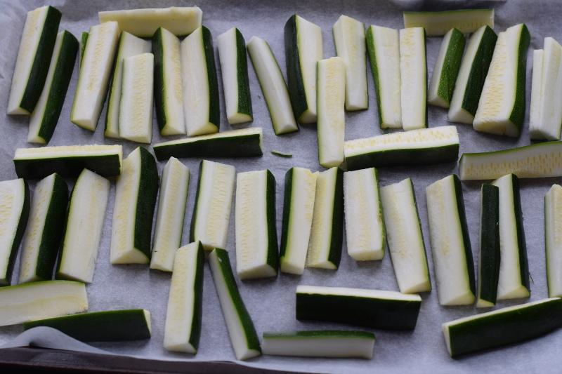 raw chopped zucchini