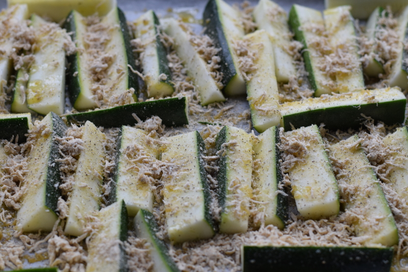 Raw Parmesan Zucchini Fries