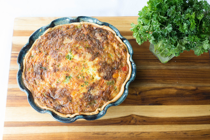 whole cooked quiche