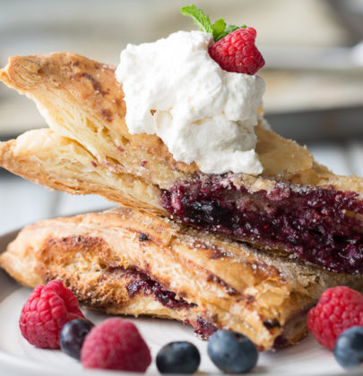 Blue Raspberry Cheesecake Turnovers