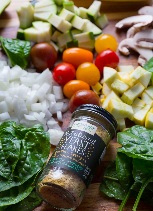 Nutritional yeast and fresh produce