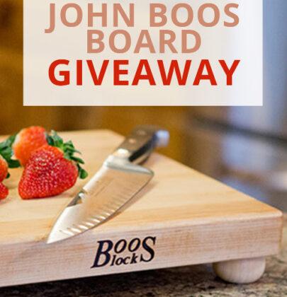 John Boos Board Giveaway!