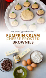 pin pumpkin spice frosted brownies