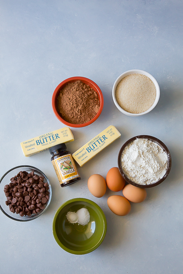 gluten free brownie ingredients