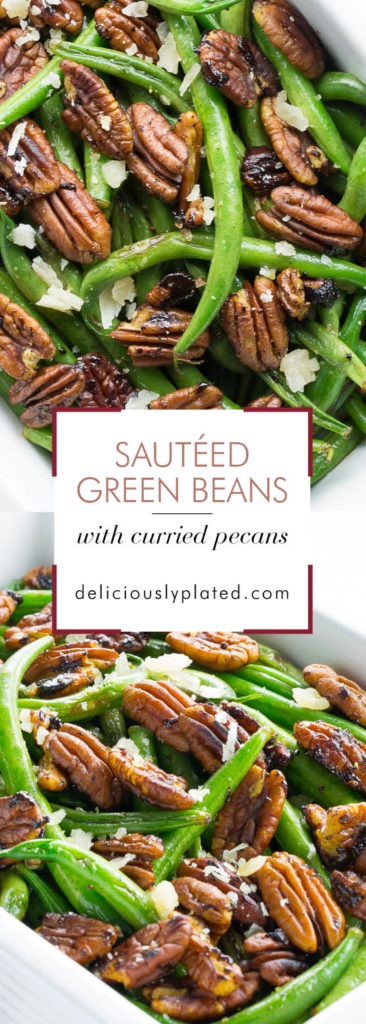 sautéed green beans with curried pecans #thanksgiving #sides #glutenfree deliciouslyplated.com