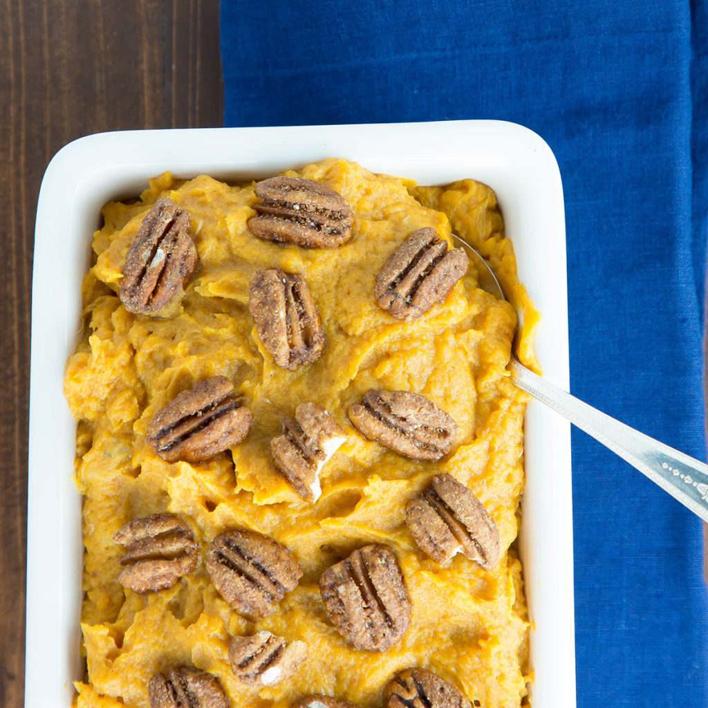 whipped sweet potatoes with bananas and honeu #thanksgiving sides #glutenfreethanksgiving