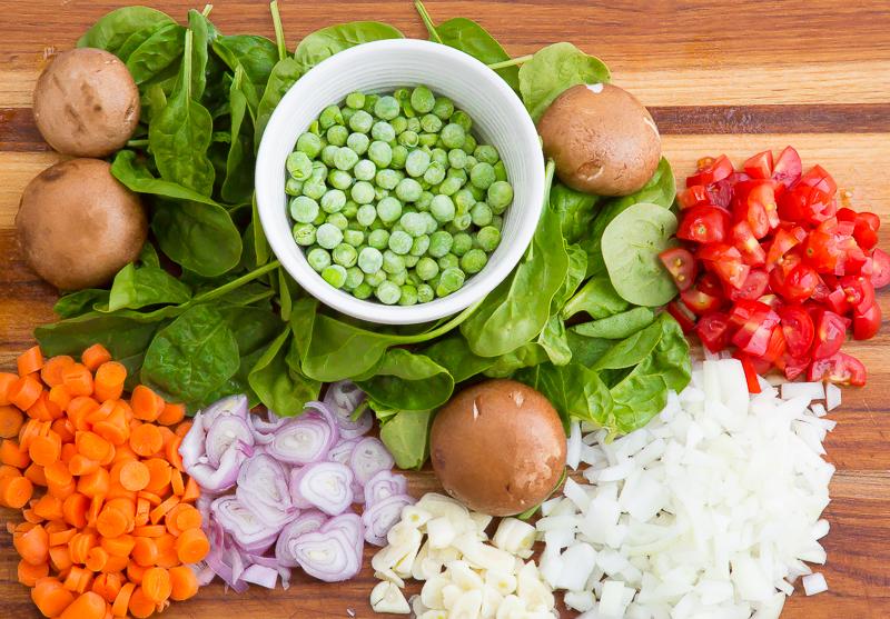 fresh veggies for veggie primavera