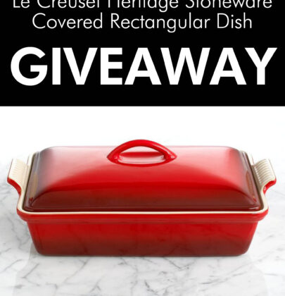 Le Creuset Heritage Stoneware Covered Rectangular Dish Giveaway!