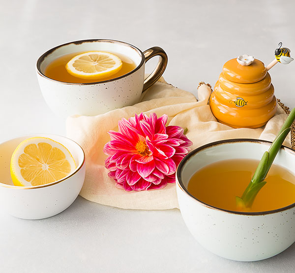 Get Well Tea Featuring Fresh Ginger Root