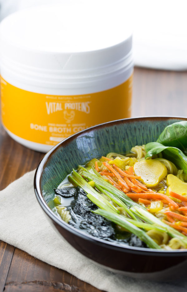 ramen bowl with bone broth collagen #sponsored #vitalproteins #collagen #ramen #bonebroth