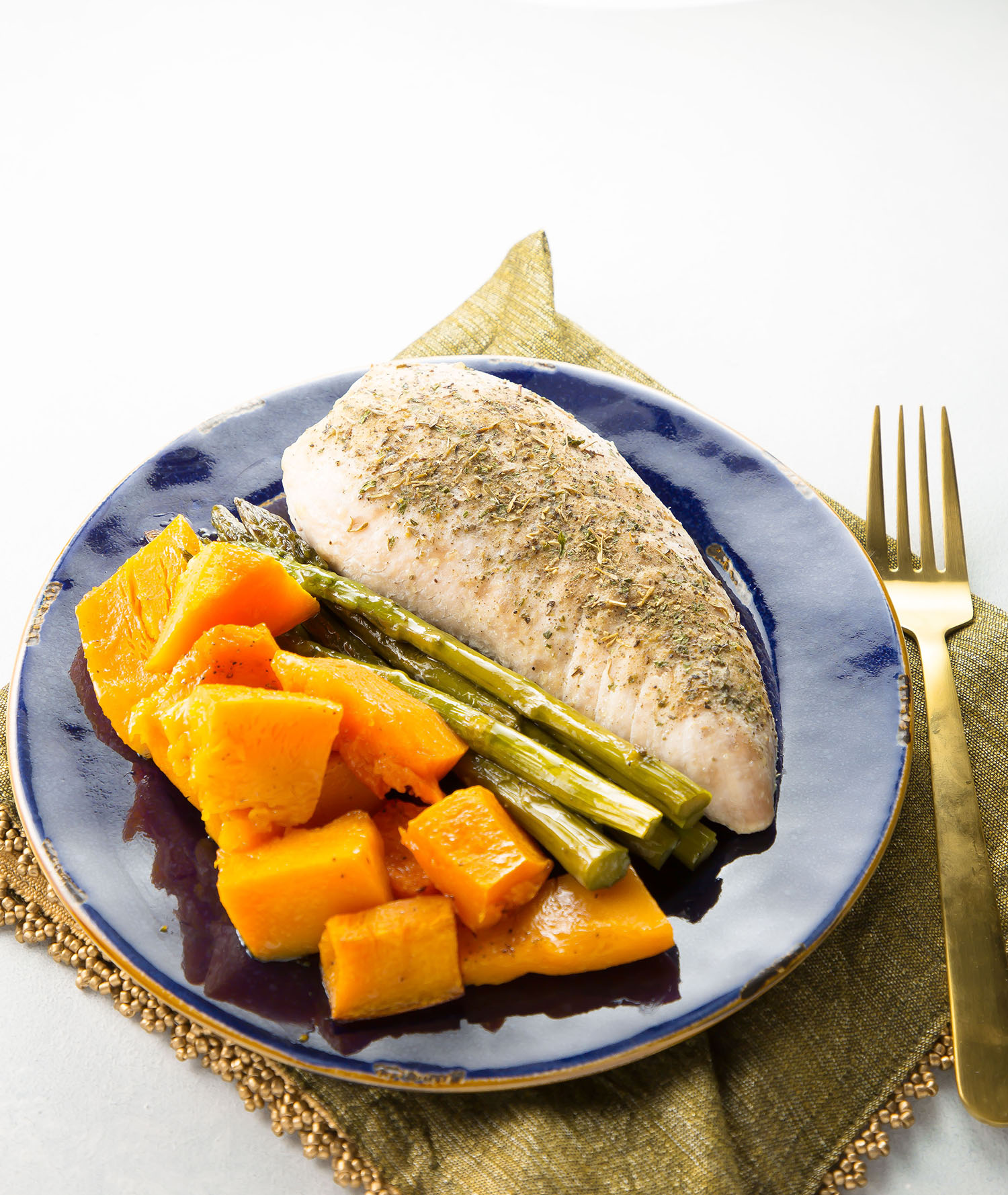 roasted turkey with asparagus and butternut squash #healthy #mealprep #30minutemeals