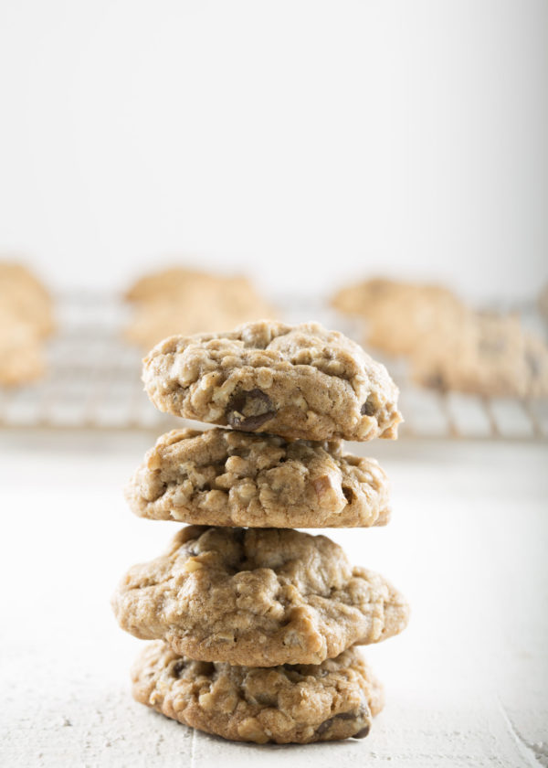 Spiced Oatmeal Chocolate Chip Cookie Stack