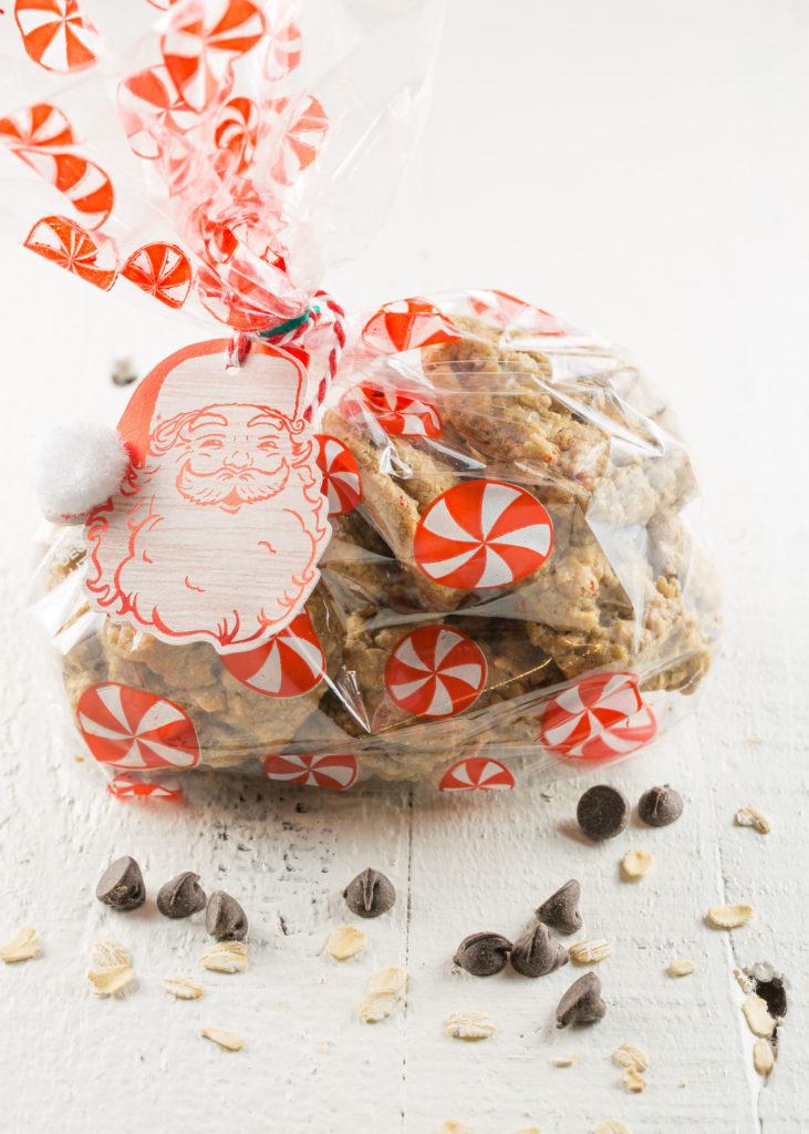DIY christmas gift: spiced oatmeal chocolate chip cookie recipe