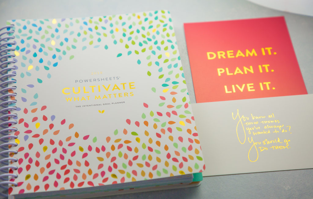 cultivate what matters goal planner