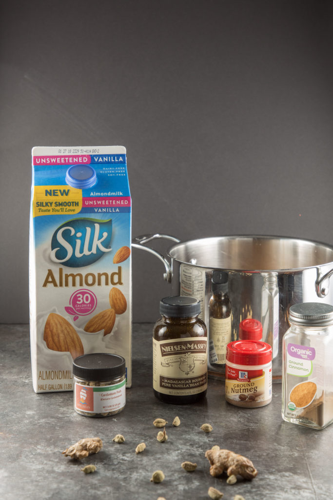 Spiced almond milk ingredients