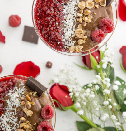 Vegan Chocolate Pudding Perfect for Valentine's Day