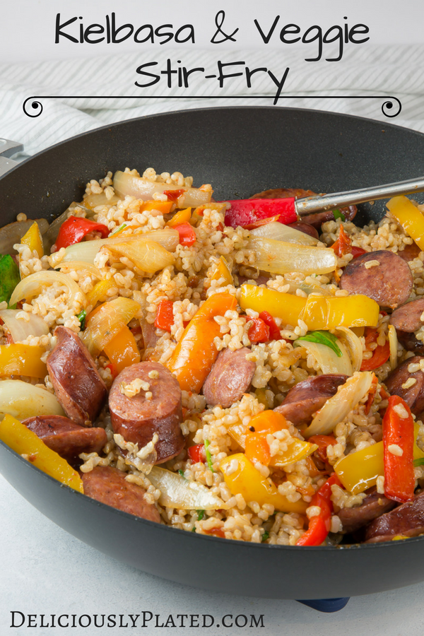 Kielbasa vegetable stir fry