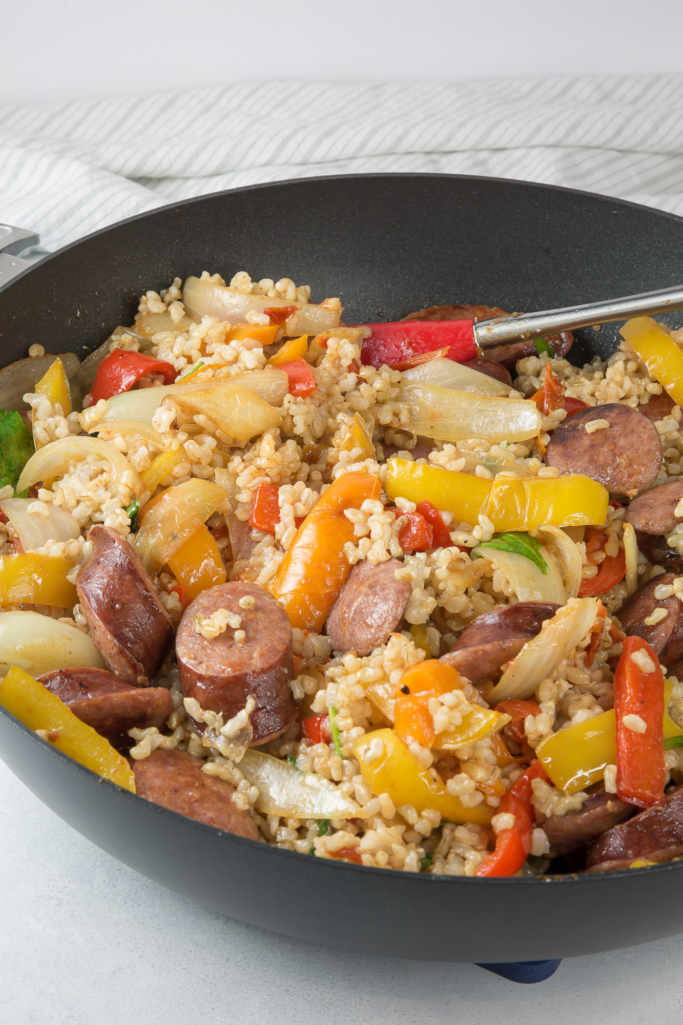 Kielbasa vegetable stir fry recipe easy and quick this 30 minute kielbasa vegetable stir fry recipe easy and quick this 30 minute meal is amazing deliciously plated forumfinder Image collections