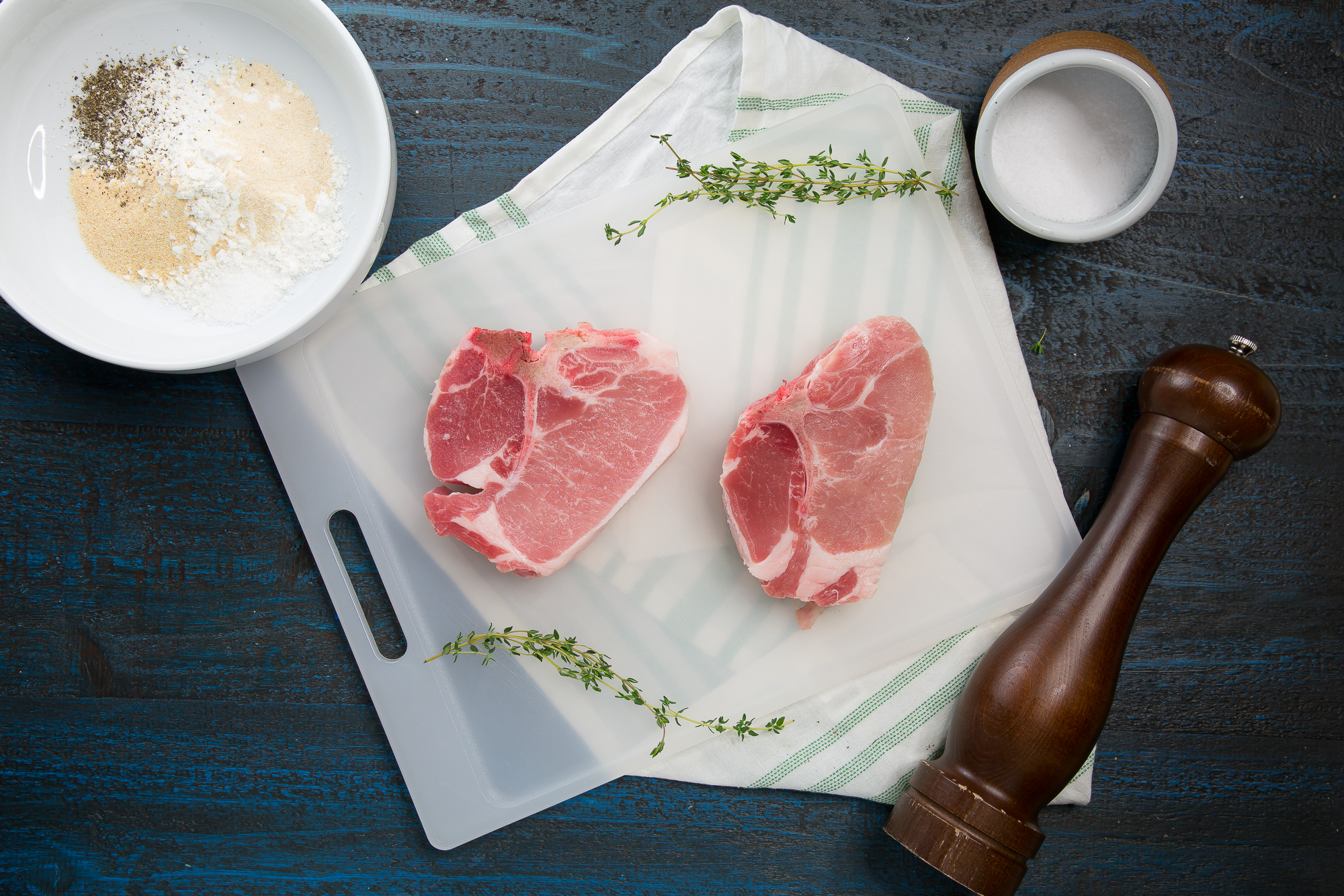 thick cut pork chops with thyme