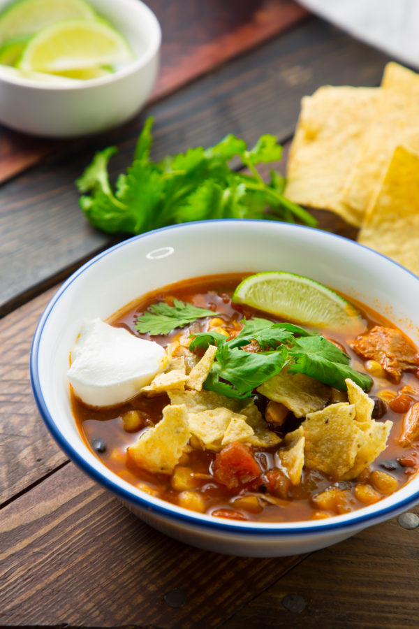the best taco soup in a bowl