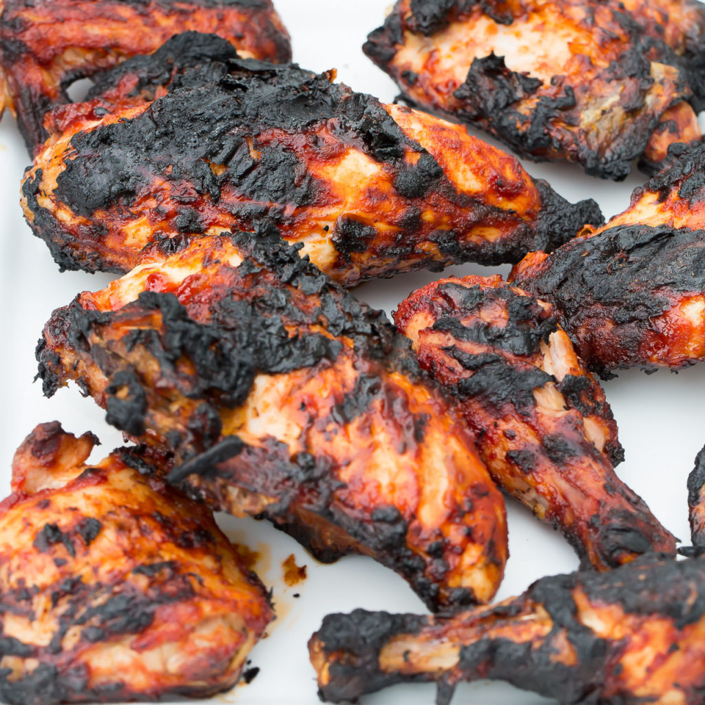 grilled chicken with sweet and spicy bbq sauce
