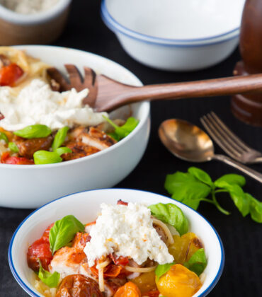 A Lite and Simple Summertime Dish: Caprese Pasta Salad with Chicken