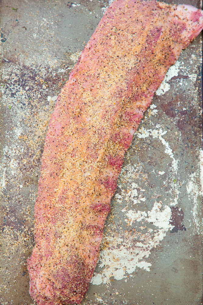 heritage pork ribs with dry rub