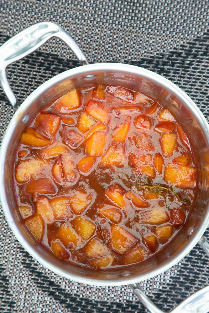 bourbon peach rib sauce