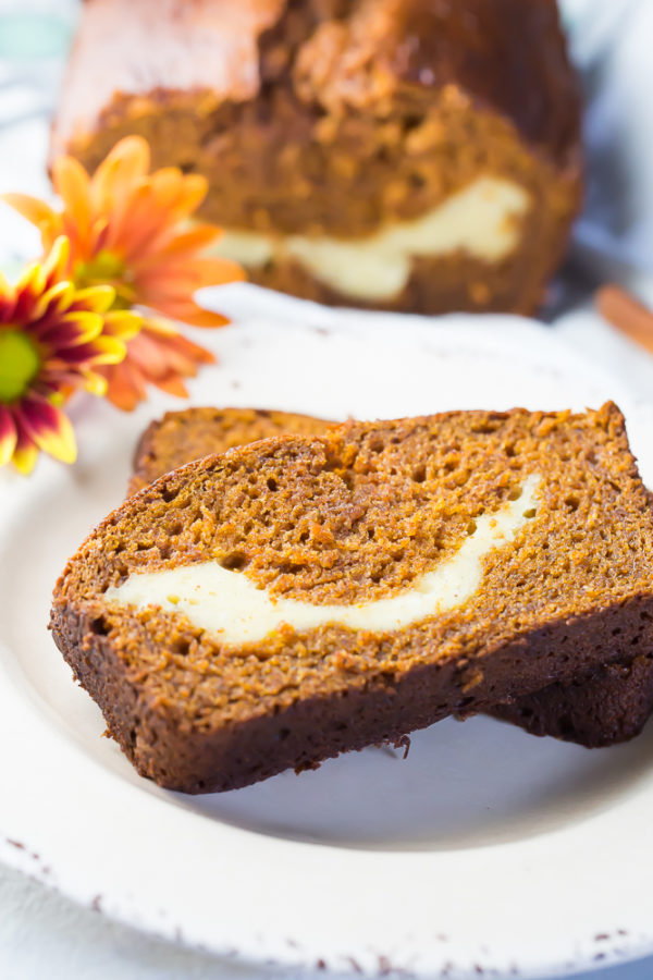 Delicious Gluten Free Pumpkin Cream Cheese Loaf