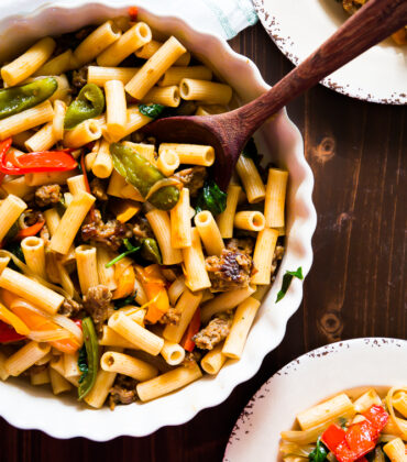 Rustic Rigatoni With Sausage And Peppers