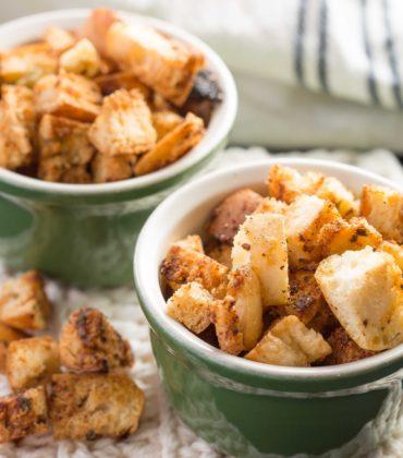 Garlic Parmesan Croutons That Will Make Any Salad Shine